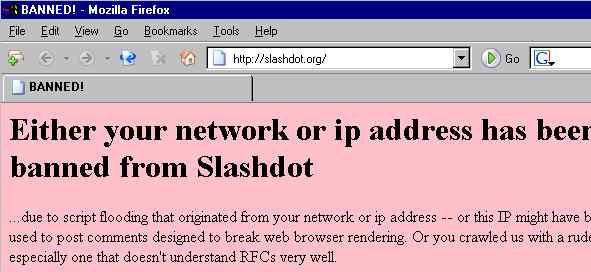 banned from slashdot